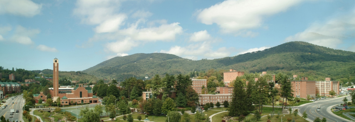 Panorama of Appalachian State's Campus